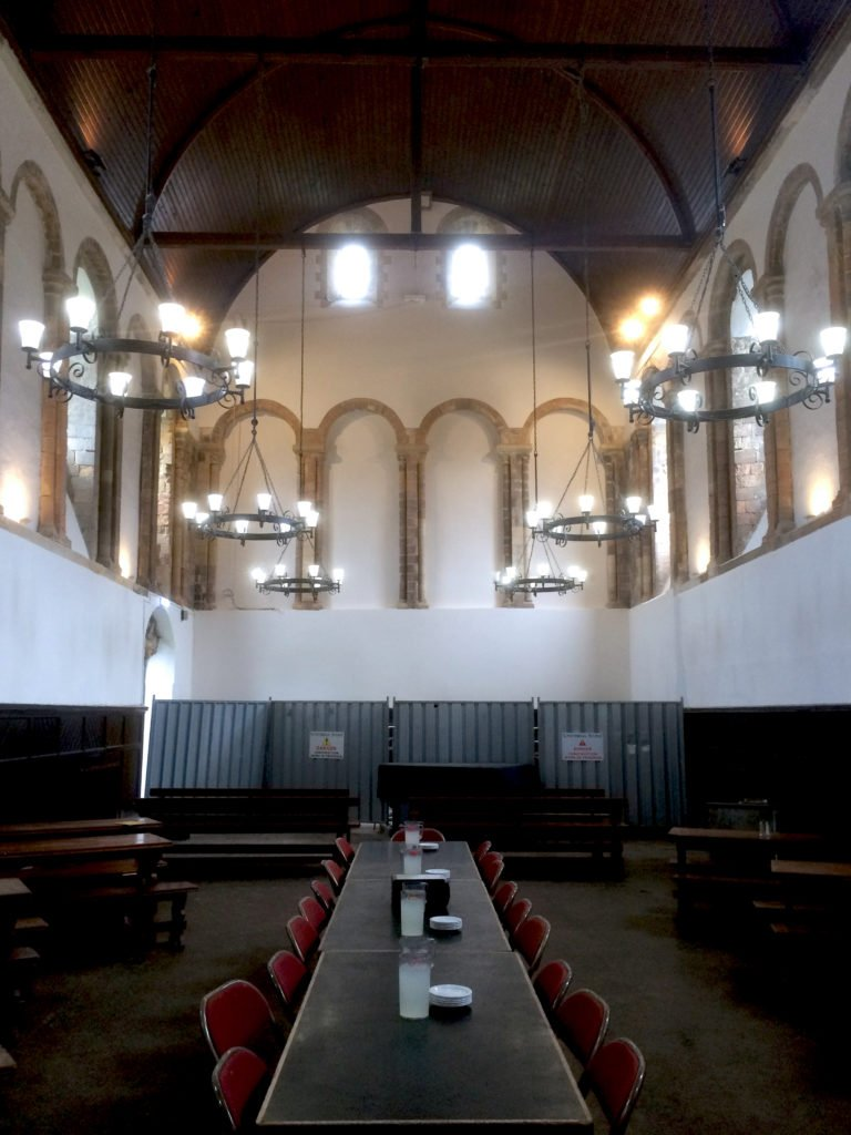 One of the Oldest Refectory in England Undergoes Conservation to Restore Gable Walls. 1