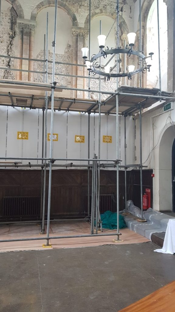One of the Oldest Refectory in England Undergoes Conservation to Restore Gable Walls. 8