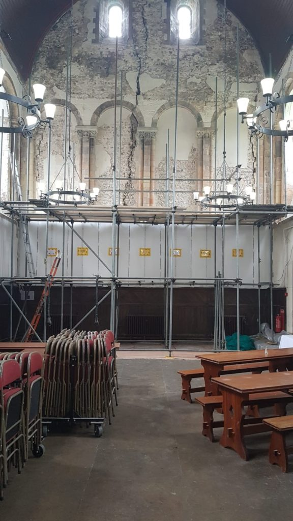 One of the Oldest Refectory in England Undergoes Conservation to Restore Gable Walls. 9