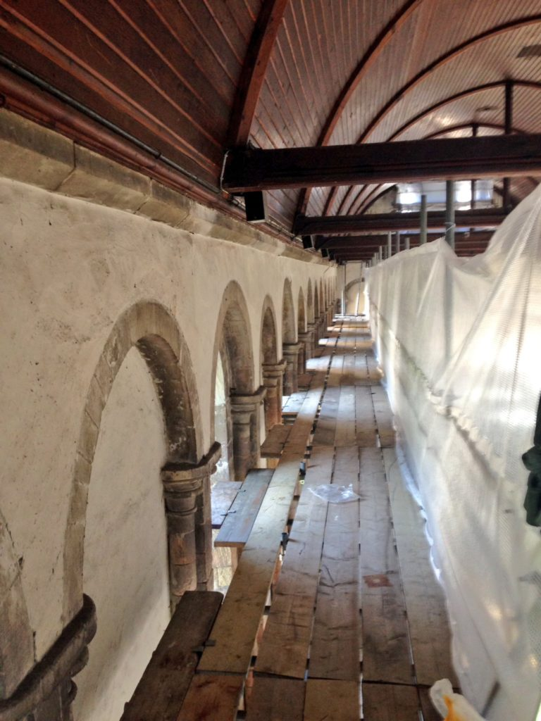One of the Oldest Refectory in England Undergoes Conservation to Restore Gable Walls. 6