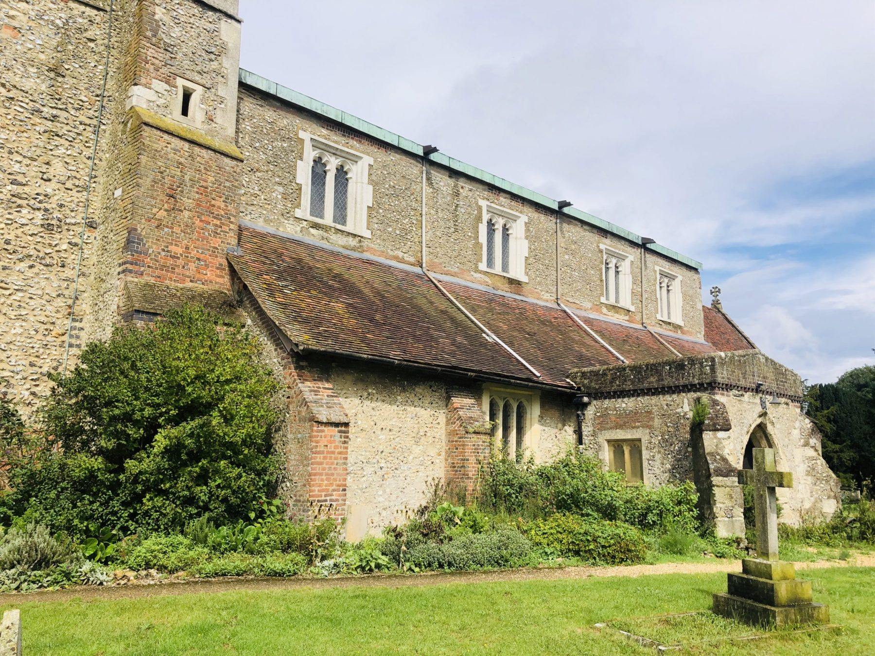 Let the conservation repairs begin…at St Leonard's Church, Flamstead 1