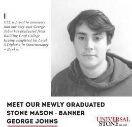 Newly graduated Stone Mason - George John 4