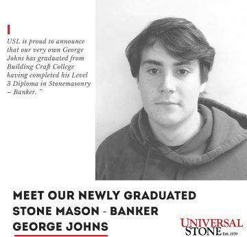 Newly graduated Stone Mason - George John 2